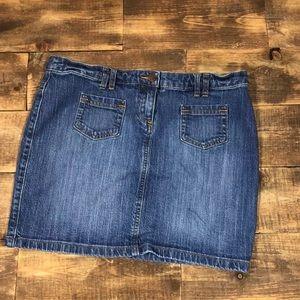 New York & Company Jean Skirt Straight/Pencil Cut